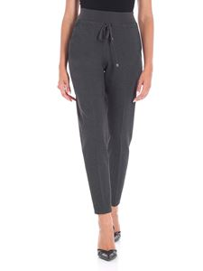 Le Tricot Perugia - Grey trousers with drawstring