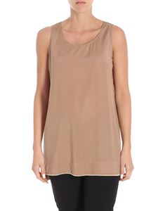 Le Tricot Perugia - Brown top with micro beads