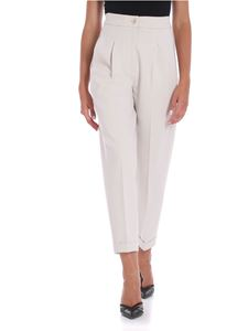 Le Tricot Perugia - Ice color trousers with turn-up