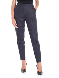 Le Tricot Perugia - Pinstriped blue trousers