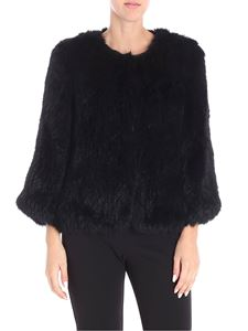 Yves Salomon - Black lapin fur jacket