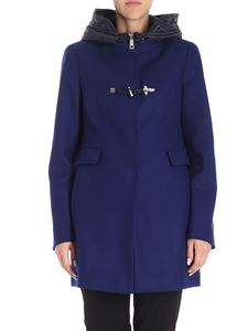 Fay - Electric blue padded wool coat