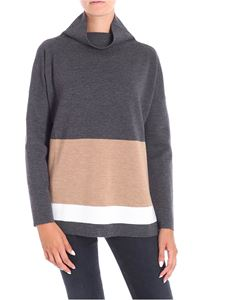 Le Tricot Perugia - Grey high-neck pullover