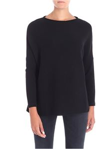 Le Tricot Perugia - Black dropped shoulder T-shirt