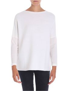 Le Tricot Perugia - White dropped shoulder T-shirt