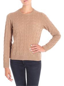 Le Tricot Perugia - Brown braided patterned pullover