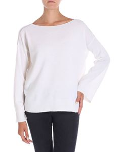 Le Tricot Perugia - White pullover with micro beads