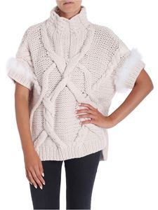 Lorena Antoniazzi - Ecru colored knitted pullover