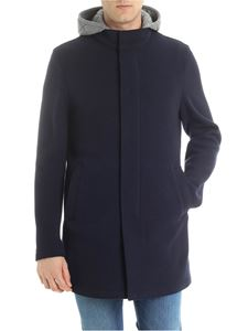 Herno -  Blue coat with detachable hood