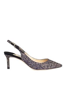 Jimmy Choo - Multicolor Erin glittered pointy pumps