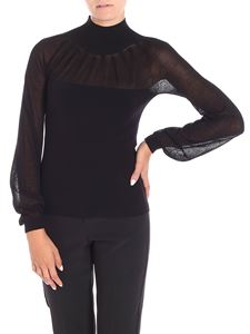 Blumarine - High-neck sweater with nude effect