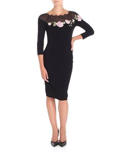 Blumarine - Black dress with roses embroidery