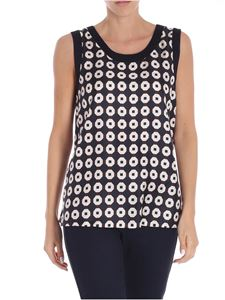S Max Mara - Blue geometric printed Helga top