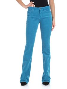 Blugirl - Turquoise 5-pocket corduroy trousers