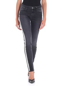 Blugirl - Black jeans with glitter bands