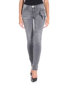 Blugirl - Gray jeans with bow