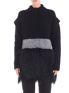 Blugirl - Knitted and eco-fur coat