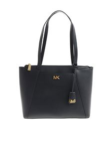 Michael Kors - Blue leather Maddie large tote bag
