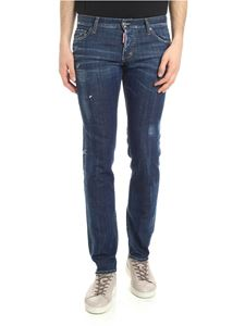 Dsquared2 - Slim blue jeans with vintage effect