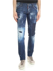 Dsquared2 - Blue Slim destroyed jeans