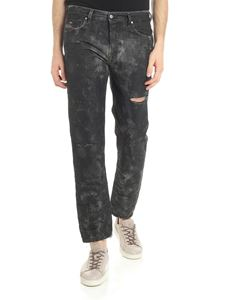 Diesel - Anthracite Mharky coated jeans