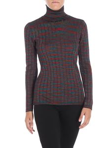 M Missoni - Multicolor turtleneck with relief pattern