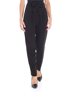 Pinko - Black viscose Carion trousers