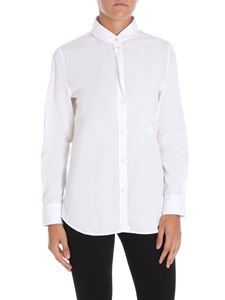 Golden Goose Deluxe Brand - White Lyra shirt with rounded collar