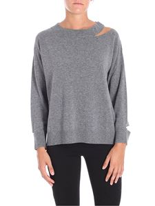 Pinko - Grey Calanthe sweater with cut-out