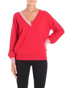 Pinko - Red Door pullover with pink inserts