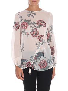 Pinko - Pink Ancora blouse with floral print