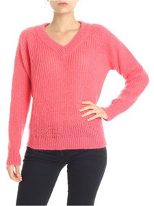 Roberto Collina - Fuchsia mohair and wool pullover