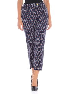 Tory Burch - Sara blue trousers with geometric print