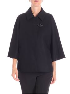Fay - Black cape with shirt collar