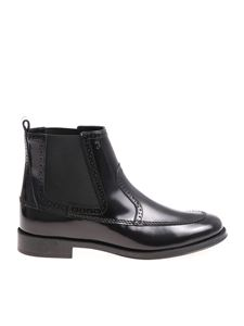Tod's - Black Chelsea leather ankle boots