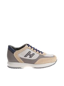 Hogan - New Interactive beige and gray sneakers