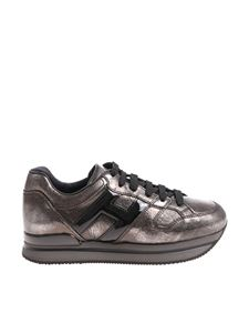 Hogan - Gray H222 vintage effect sneakers