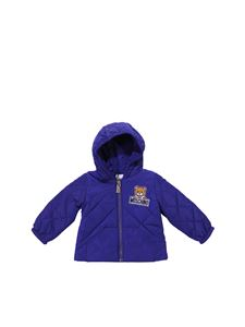 Moschino Kids - Blue padded hooded jacket