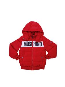 Moschino Kids - Red hooded jacket and logo