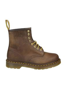 Dr. Martens - Brown leather vintage effect boots