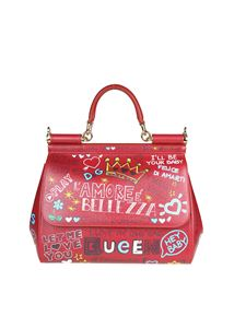 Dolce & Gabbana - Red leather Sicily medium bag