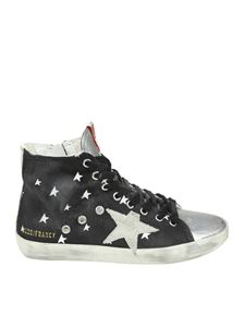 Golden Goose Deluxe Brand - Francy Cosmo Star blue and silver sneakers
