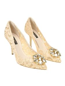 Dolce & Gabbana - Bellucci apricot color lace pumps
