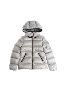 Moncler Jr - Grey Berre hooded down jacket