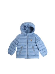 Moncler Jr - Light blue Jules down jacket with hood