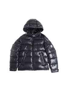 Moncler Jr - Shiny blue New Maya down jacket