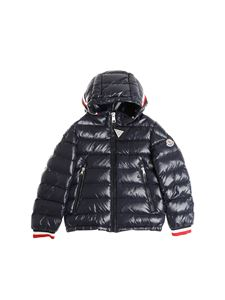 Moncler Jr - Blue Alberic down jacket with multicolor cuffs