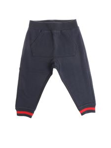 Moncler Jr - Blue pants with kangaroo pocket