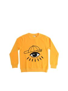 Kenzo - Ocher yellow sweatshirt with Eye embroidery