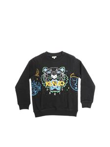 Kenzo - Black sweatshirt with multicolor Tiger embroidery